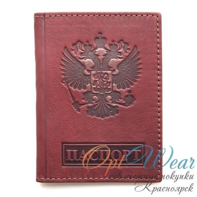 Кожаная обложка для паспорта RUSSIA Артикул: 5608