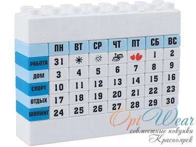 Настольный календарь в форме конструктора лего