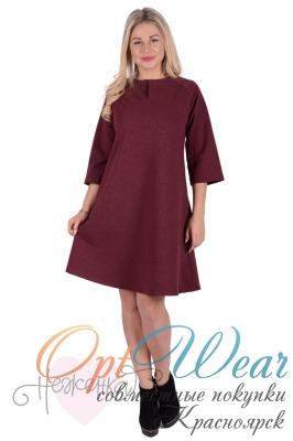Платье П 732 (бордовый)