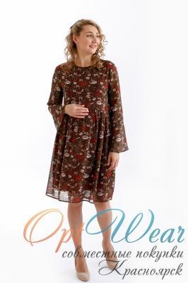 Платье 0658 коричневый