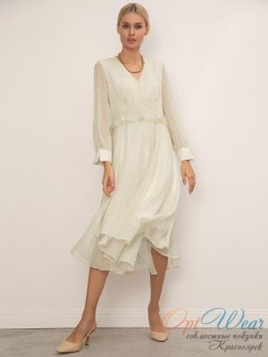 EMKA  Шифоновое платье с принтом PL1082/falover